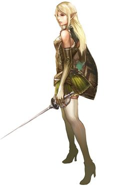 Female Elf Concept Art 2 - Lineage 2 (PC)