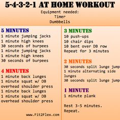 5-4-3-2-1 at home workout