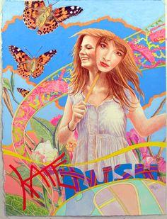 Kate bush poster by john hurford commissioned for Prog magazine