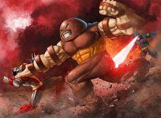 Colossus / Cyclops V Juggernaut!! Art by Prestegui on @deviantart  #Juggernaut #Cyclops #Colossus #XMen #Deadpool #Marvel #MarvelComics #Comics #ConceptArt #Art #Artist #Superhero #Villain