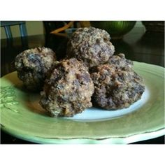 """Tasty Baked Meatballs   """"They're great as finger food, or pair with a sauce and serve over pasta for a meal."""""""