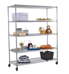Heavy Duty X-Large Wire Shelving Rack with Wheels