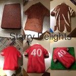 football shirt cake tutorial by Starry Delights Cakes Cake Decorating Techniques, Cake Decorating Tutorials, Cookie Decorating, Fondant Cakes, Cupcake Cakes, 3d Cakes, Fondant Bow, Fondant Flowers, Fondant Figures