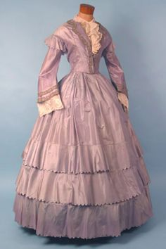 Dress, 1850's, Karen Augusta Antique Lace & Fashion