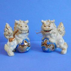 Vintage Moriage Foo Dogs to Protect Your House ~ Fu Dogs Fu Lions