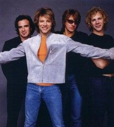 Bon Jovi - I love Jon's smile in this pic, especially because he's said many times that he HATES photo shoots