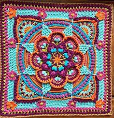 Transcendent Crochet a Solid Granny Square Ideas. Inconceivable Crochet a Solid Granny Square Ideas. Motif Mandala Crochet, Crochet Motifs, Crochet Blocks, Granny Square Crochet Pattern, Afghan Crochet Patterns, Crochet Squares, Crochet Stitches, Knit Crochet, Crochet Humor