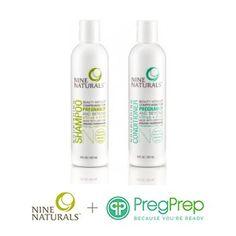 Nine Naturals + PregPrep Haircare Bundle ($70) #Natural #ToxinFree #Fertility