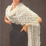 Free crochet stole pattern - simple, step-by-step instructions included  for crocheting this hairpin lace stole.