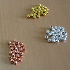 Gold plated,Rose Gold bead,Silver plated bead 4x4mm bead Total 75 pic #Handmade