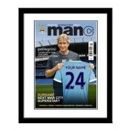 Manchester City personalised magazine cover City Super, Gifts For Football Fans, City Magazine, Personalized Football, Personalised Gifts For Him, E 10, Manchester City, Gifts For Boys, Baseball Cards