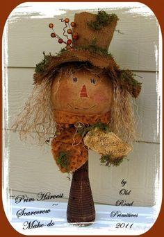 Prim Harvest Scarecrow Make-do Primitive Fall Pattern PM $7.50