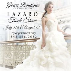 Shop this exclusive event and save 10% on trunk show purchases.  Reserve your appointment now!  843.856.2682