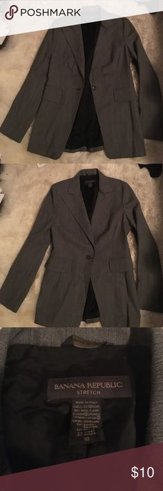 Banana Republic Blazer Grey women's banana republic blazer Banana Republic Jackets & Coats Blazers