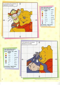 Borduurpatroon Winnie the Pooh kruissteek *Cross Stitch Pattern ~met Teigetje en Iejoor~ Cross Stitch Fairy, Cross Stitch Pillow, Cross Stitch Cards, Cross Stitch Kits, Cross Stitch Designs, Cross Stitching, Cross Stitch Embroidery, Cross Stitch Patterns, Stitch Character