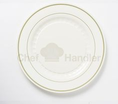 Our Mystique Round Elegant Plastic Plate is available in both Beige-Gold (like you see here) as well as in Silver-White.  Be sure to check out Chef Handler for all of our pretty plastic plates.