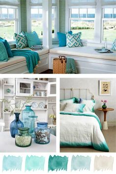 Summer Crush - Mint & Aqua (Coastal Style) - Home Designs Beach Cottage Style, Beach House Decor, Coastal Style, Coastal Decor, Diy Home Decor, Room Decor, Coastal Cottage, Aqua Decor, Summer House Decor
