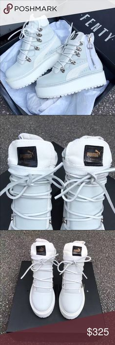 FENTY PUMA RIHANNA SNEAKER BOOTS Fenty puma creeper sneaker boots by Rihanna. Brand new with the box. Size 7.5 Puma Shoes Athletic Shoes