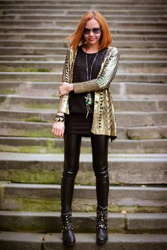 Golden knight (of Cydonia) | gvozdiShe Golden Knights, Personal Style, Punk, Clothes For Women, Blog, Fashion, Fashion Clothes, Outerwear Women, Moda