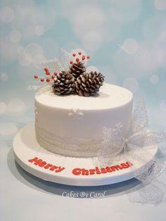 Simple Christmas cake - Cake by Carol