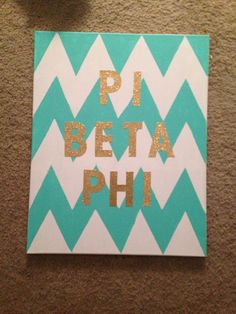 Chevron Pi Phi canvas craft #piphi #pibetaphi