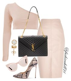 """""""Perfect"""" by fashionkill21 ❤ liked on Polyvore featuring Casadei, River Island, Yves Saint Laurent and Karen Walker"""