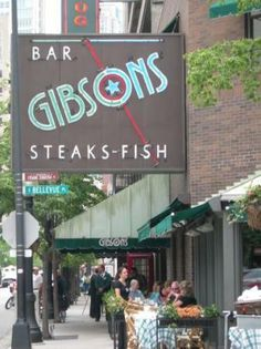 Gibson's Bar & Steakhouse in Chicago - Huge portions, great food and a great place to people watch. Good celebrity hangout.