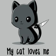 My Cat Loves Me - [other] stuff - Cats Cute Animal Drawings Kawaii, Cute Cartoon Drawings, Kawaii Drawings, Cute Cat Drawing, Anime Animals, Funny Animals, Cute Animals, Animes Wallpapers, Cute Wallpapers