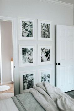 Wall gallery Ideas Ikea frames Nightstand Ideas Master bedroom Decor Bedroom decor inspo Uptown with Elly Brown Modern Master Bedroom, Farmhouse Master Bedroom, Master Bedrooms, Bedroom Ideas Master On A Budget, Trendy Bedroom, Small Bedrooms, Master Bed Room Decor, Ideas For Bedroom Walls, Photos In Bedroom