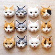 なんだかんだで完成あご下植毛でいろいろごまかせれてたのを痛感…顔だけって難しい(´・ω・`) #cat #neko #gingercat #silvertabby #whitecat #calico #茶トラ #サバトラ #白猫 #三毛猫 #needlefelt #needlefelting #woolfelt #woolfeltcat #羊毛フェルト #ニードルフェルト #ねこブローチ 20160422