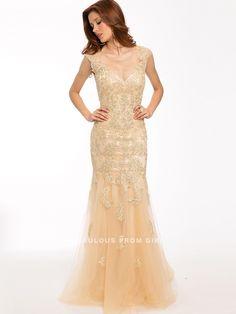 Trumpet / Mermaid Applique  Tulle  Prom Dresses / Evening Dresses
