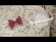 La broche Noeud en perles Miyuki - YouTube