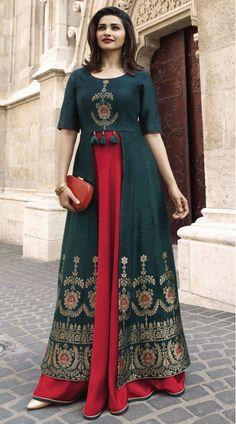New indian Designer Party Wear Royal Blue & Red colour Front Open Full Length dress Indian Designer Suits, Designer Gowns, Kurta Designs Women, Blouse Designs, New Kurti Designs, Indian Gowns Dresses, Kurti Designs Party Wear, Indian Party Wear, Party Wear Dresses