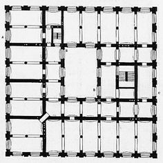 bauakademie . berlin . 1831-36 . karl friederich schinkel Classic Architecture, Historical Architecture, School Architecture, Architecture Plan, Floor Plans, Diagram, How To Plan, Berlin, Awesome House