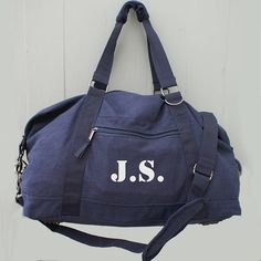 personalised men's canvas weekend bag by sparks clothing | notonthehighstreet.com