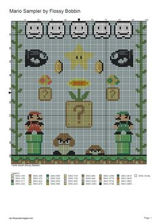 Thought I would also put this here for anyone who wants to stitch it, designed a while ago, I still haven't finished stitching mine! Geek Cross Stitch, Beaded Cross Stitch, Cross Stitch Charts, Cross Stitch Designs, Cross Stitch Embroidery, Cross Stitch Patterns, Super Mario, Perler Bead Mario, 8bit Art