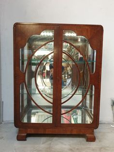 Art Deco showcase - Catawiki Art Deco Mirror, Art Deco Furniture, Glass Shelves, Home Decor, Decoration Home, Glass Display Shelves, Room Decor, Glass Shelving Unit, Home Interior Design