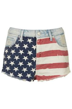 MOTO Flag Front Hotpants - 4th of July Weekend