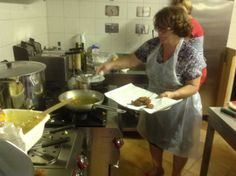 """Cooking """"Frittelle di riso"""", Cooking Class/Agriturismo CaseGraziani, Umbria, Italy"""