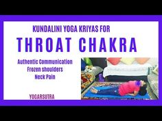 Spiritually and aesthetically, this Kundalini Yoga For Throat Chakra will help you in authentic and truthful communication. Neck And Shoulder Pain, Neck Pain, Yoga Courses, International Yoga Day, Frozen Shoulder, Kundalini Yoga, Chakra Balancing, Throat Chakra, Yoga Sequences