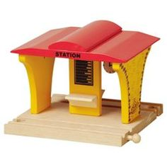 Carousel Wooden Train Station from Tesco direct