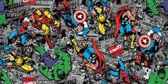 Marvel Comic Fabric, Spider Man Fabric, Iron Man Fabric, Super Hero Fabric, Captain America Fabric, 1 yard fabric