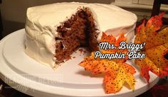 Pumpkin Cake via reachingbeyonmyreach.com - This is a family favorite this time of year!