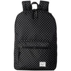 Herschel Supply Co. Settlement Mid-Volume (Polka Dot/Black Rubber)... ($73) ❤ liked on Polyvore featuring bags, backpacks, black, zipper bag, padded laptop backpack, laptop rucksack, padded backpack and backpack laptop bag