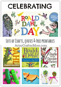Roald Dahl Day, Roald Dahl Quotes, Roald Dahl Books, Roald Dahl Activities, Library Activities, Activities For Kids, Geography Activities, Sequencing Activities, Activity Ideas