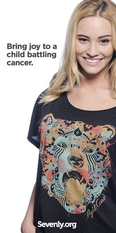 See how you can unlock a smile from a child battling cancer! 1 shirt provides 1 HOPE box filled with toys, blankets, books, and treats to a precious child fighting to stay strong. Give Hope HERE!! ► www.sevenly.org/Dale