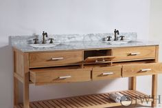 """60"""" Aquila Transitional Double Sink Vanity"""
