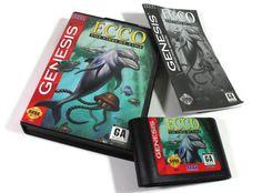 Ecco The Tides of Time Sega Genesis Retro Game CIB Complete in Box w Manual: Dolphin Video Game, Undersea Quest, Ocean, Marine Mammal Single Player, Ready To Play, All Games, Sega Genesis, Dolphins, Mammals, Video Game, Etsy Shop, The Originals