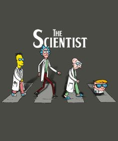 The Beatles, Abbey Road: The Scientist Morbider Humor, Rick And Morty Stickers, Rick And Morty Poster, Simpsons Art, Buch Design, 5 Anime, Cartoon Crossovers, Cartoon Characters, Batman