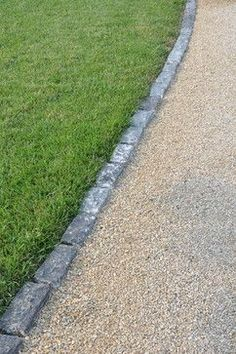 brick edging between gravel and lawn - Google Search …